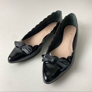 Kate Spade Patent Leather Flats Bow SZ 6.5